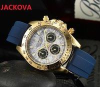 top luxury Montre De Luxe Multi Funcitonal quartz Watch Men 41mm Silicone Strap President Mens Male Wristwatches