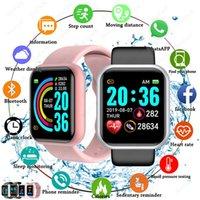 2021 Y68 D20 SmartWatch Fitness Bloodwatch Blood Pressure frequenza cardiaca Monitor Pedometro Cardio Braccialetto Uomo Donna Smart Watch per iOS Android PK T500 U8 DZ09 CZ F30