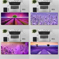 Mouse Pads & Wrist Rests YNDFCNB High Quality Purple Lavender Natural Rubber Gaming Mousepad Desk Mat Large Pad Keyboards