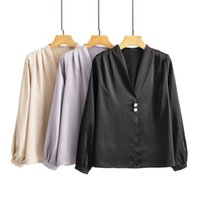 Blusas de las mujeres camisas 2021 Spring Express Street Style Collage Collage Cardigan manga larga con cuello en V Blusa suelta