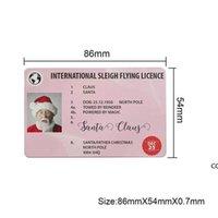 Christmas Gift Santa Greeting Cards 86*54mm Santa Claus Funny Driver's License Card DHE9630