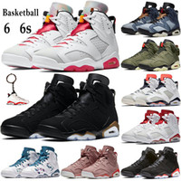 Sıcak Yüksek Anahtarlık Hare DMP ile 6 6s Basketbol Ayakkabı 2020 Erkekler Kadınlar Eğitmenler oregon siyah Travis'in scotts atletik Sneakers ördekler
