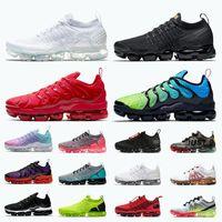 Moda TN Plus Run Run Mens Femininas Correndo Tênis Triplo Branco Preto Vermelho Aurora Verde TNS Treinadores Sports Sneakers Tamanho 13