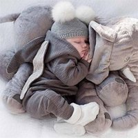 Niedliche Kleinkind Baby Strampler Neugeborene Kleinkindkaninchen Ohren Häschen Hut Overall Strampler Langarm Reißverschluss Einteilige Hosen Frühling Onesies H23ENAV