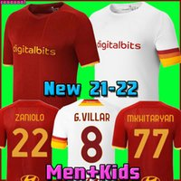 camisa de futebol AS ZANIOLO ROMA DZEKO PASTORE roma TOTTI KLUIVERT KOLAROV 20 21 camisa de futebol 2020 2021 Masculino + crianças kit uniformes maillot terceiro