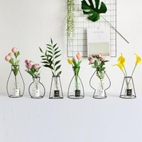 Vases Windy Minimalist Nordic Style Ins Iron Vase Dried Flower Racks Ornaments Floor Artificial Flowers Q $