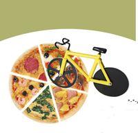 Cuchillo de corte de pizza Cortador de pizza de bicicleta Doble Acero inoxidable Cortador de bicicletas Pizza Herramienta Cuchillo Hornear Cocina Herramientas Regalos Creativo NHE8875