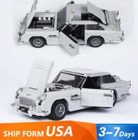 21046 серии Creator серии Martin Supercar гоночный автомобиль DB5 строительные блоки игрушки совместимые 10262 рождественский подарок