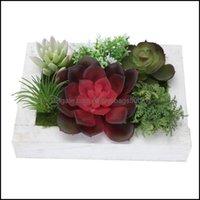 Decorative Festive Party Supplies Home Gardendecorative Flowers & Wreaths 1Pc Fake Plant Po Frame Artificial Suent Wall Art Decor Drop Deliv