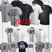 99 Aaron Jersey Jersey 2020 York Jersey 2 Derek Jeter 45 Gerrit Cole Gleyber Torres Don Mattingly Babe Ruth Mariano Ruth Rivera Baseball