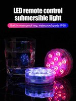 Pool & Accessories LED Submersible Light 7cm 10 With Infrared Remote Control Waterproof Underwater For Swimming Aquarium