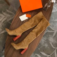 Decibel over-the-knee boots suede for bold, soft style thick heels size 35-41