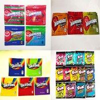 Pronto para enviar Airheads Xtremes Bags Cereja Laranja Bits Gummies Zipper Resealable Mylar Edibling Embalagem TRLLI Trolli Errlli Baribo Oneup Jolly Skittles