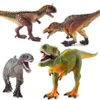 كتل الأطفال محاكاة الديناصور ريكس ديناصور كبير نموذج القطن مملوءة لعبة الغراء الناعمة