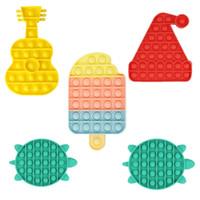 Encantadoras formas Push Bubble Sensory Juguetes para niños Rompecabezas Educación temprana Entrenamiento aritmético AUTISMO AUMENTO AUMENTO DE DISEÑO ENFOGADO H390TVF
