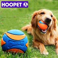 Hoopet Pet Dog Щенок скрипучий жуют игрушечный звук Чистый натуральный нетоксичный резиновый открытый Играть маленькая большая собака смешной шар 210312