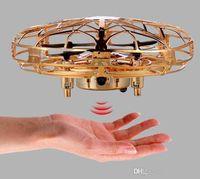 EMT MN2 4-Achs-UFO-Induktionsflugzeugspielzeug, GSTURE-Sensing-Drohne, bunte Lichter, USB-Ladeschutz, Kind Weihnachtsgeburtstagsgeschenk, 2-2