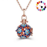 Essential Oils Diffuser Locket Necklaces Two-tone Rhinestone Aromatherapy Pendant Fashion Necklace Jewelry Gift