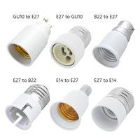 Holder Bulb Base Converter Light Extender Lamp Fireproof Material B22 GU10 E27 E14 Conversion Socket Adaptor Led Lamp Bulb Base