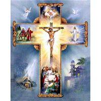 Алмазная картина 5D DIY полная квадратная мозаика вышивка Christian Cross Иисус Христос MBRoided Chower Home Украшение дома подарок