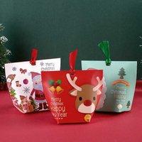 Creative Christmas Holiday Party Gåvor Mini Elk Söt godis Chokladbakning Box Dekoration Partihandel