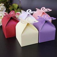 10 adet Lazer Kesim Kelebek Şekilli Kağıt Favor Hediyeler Şeker Kutuları Katlanır DIY Düğün Noel Doğum Günü Partisi Bebek Duş Malzemeleri