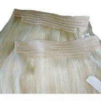 Große Qualität 120g Reine Farbe Blondine 613 # Seide Gerade Brasilianer Remy 18inch 20inch 22inch 24inch Flip In FEFTS Echt Hu Haare