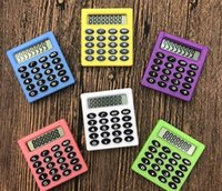 Nette Studententasche 8 Digital Mini Elektronische Rechner Candy 5 Farben Berechnung Münzbatterien Rechner Bürobedarf Geschenk