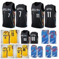 7 Kyrie 11 Kevin 72 Irving Biggie Durant Net Basketabll Jersey Mens 2021 NCAA Jerseys Black Cinza Azul Branco