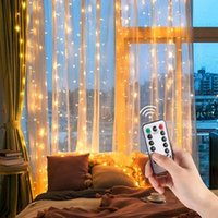 Luces de hadas Guirnalda cortina lámpara control remoto USB cadena luces led dormitorio decoración año nuevo dormitorio colgante