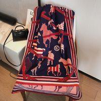 Scarves Winter Design Warm Lady Blanket Thick Shawl Luxury Cashmere Scarf 2021 Women Pashmina Elegant Foulard Female8