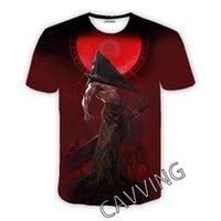 남성용 티셔츠 Cavving 3D 인쇄 된 조용한 언덕 캐주얼 힙합 티셔츠 하라주쿠 스타일 탑스 남성 / 여성을위한 의류