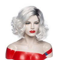 Peruca curly curly para senhoras ombre cinza perucas womens perucas cheias resistentes ao calor sintético ondulado mamãe diariamente desgaste wig