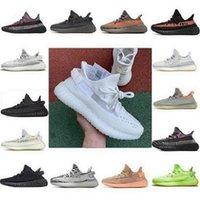 2021 Kanye Batı Boost Koşu Ayakkabıları Belgua 2.0 Yarı Dondurulmuş Sarı Ayakkabı Yüksek Kaliteli Tasarımcı Erkek Kadın Trainer Sneakers EUR 36-48