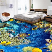 Wallpapers Wellyu Custom 3D Flooring Stickers Ocean World Three-dimensional Painting Can Be Magnified Ten Times Behang