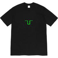 20FW дизайнерский крест напечатанный TEE мужчины женские летние футболки мода экипаж шеи с коротким рукавом рубашки Homme Streetwear одежда одежды