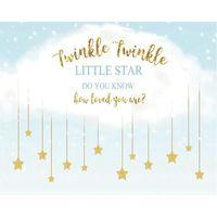 Decorazione del partito Twinkle Little Star Cartoon Cloud Backdrop Baby Shower Room Decor PO Booth Studio Prop