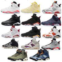2021 Jumpman 6 3 S Erkek Basketbol Ayakkabı 6 S Yüzükler UNC Tinker Yansıtıcı Gümüş DMP Siyah Flint Gri DB Dobernbecher Spor Sneakers