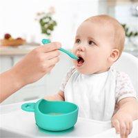 Дизайнер силиконовые детские чаши ложка материнской и младенческой кормления посуда в присоске Дополнительный продовольственный набор T62X