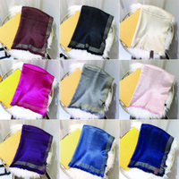 Designer di marca Sciarpa di alta qualità Stili di seta e cotone di alta qualità stili lunghi 180x70 10 colori sciarpe scialle scatola regalo set