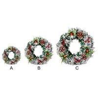 الاصطناعي عيد الميلاد اكرال باب الجدار شنقا زخرفة الزخرفية مع الصنوبر مخروط التوت الهدايا ل xm qylnpw