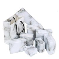 Gift Wrap 1pcs Jewelry Package Square Rectangle Different Size Marbling Kraft Paper Box Earring ring  bracelet Bag Boxs