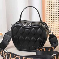 One-shoulder Messenger New Bag Female Apple Color Foreign Style Embossed Summer Fashion 2021 Double Round Small Zipper Pure Kwxrr