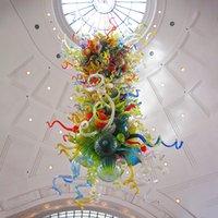 Chihuby стиль ручной вручную стекло подвесные светильники красочные гордости современной роскошной арт декоративная цепь висит люстра пользовательских 28 на 48 дюймов