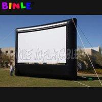 Большой открытый 30x17FT надувной экран фильма 16: 9 проекция задворк садовый фильм кинотеатр кинотеатр с вентилятором
