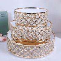 Other Bakeware Gold Mirror Metal Cake Stand Round Cupcake Wedding Birthday Party Dessert Pedestal Display Plate Home Decor