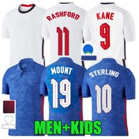 Fan Player Versione 2021 Sancho Kane Rashford Soccer Jersey E Foden Chilwell Sterling Mount NGLAND Grealish Camicie da calcio Saka Mings James Uomini Kid Kit Uniform