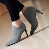 Dress Shoes Fashion Women High Heel Ankle Boots Female Young Ladies Heels Stiletto Cloth