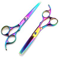 Rainbow 6 pollici Taglio professionale Joewell Hair Forbici per capelli per parrucchiere Haircut Barbershop Shears Buona qualità