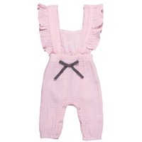 Kids Casual Jumpsuits Solid Colors Square Collar Jumpsuit La...